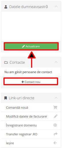 Modificare date cont client