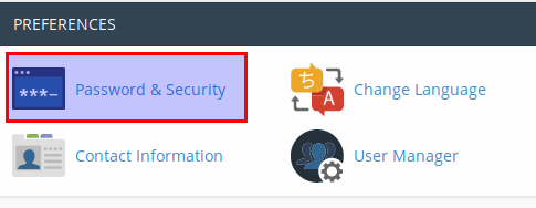 password cPanel