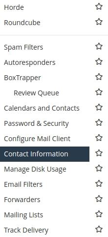 contact information webmail