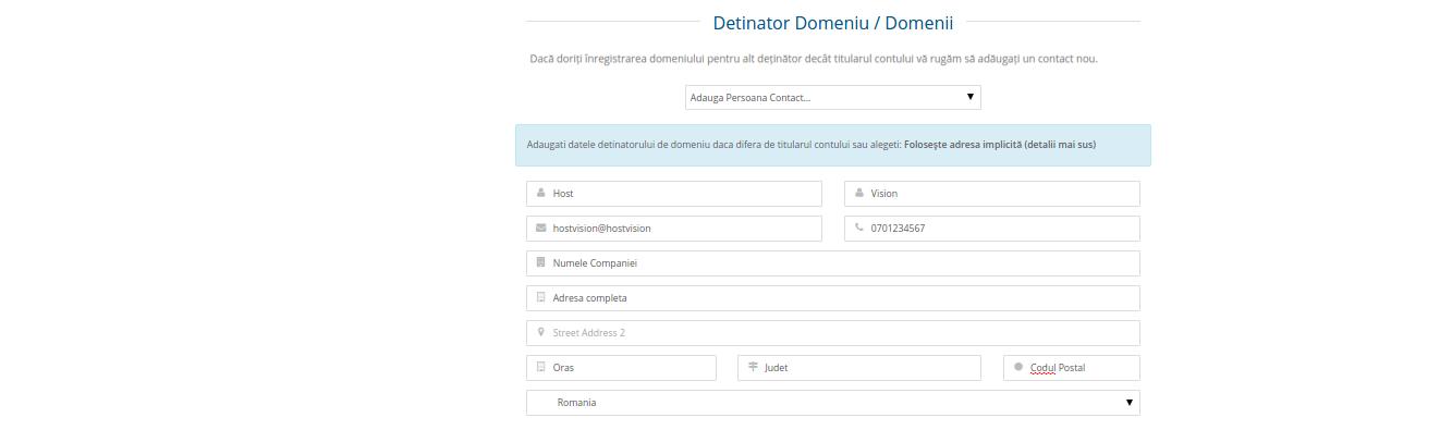 Inregistrare domeniu