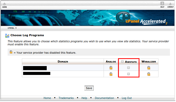 cPanel - AWStats Activation