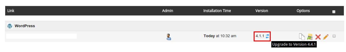 Update WordPress Softaculus