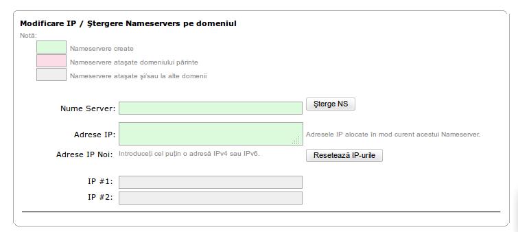 Nameservere personalizate ROTLD