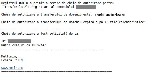 transfer registrar rotld email